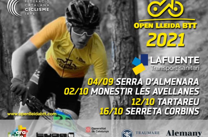 El Open Lleida BTT y la Kids Cup Lleida 2021 tendrán cuatro pruebas y arrancarán el próximo día 4 en La Sentiu de Sió