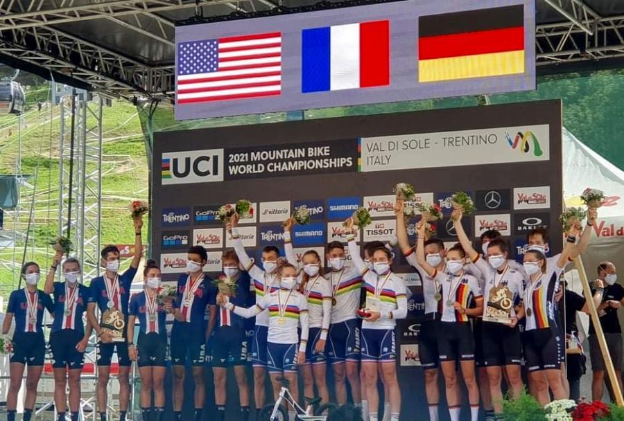 Francia gana el Mundial de BTT por equipos de Val di Sole, Italia