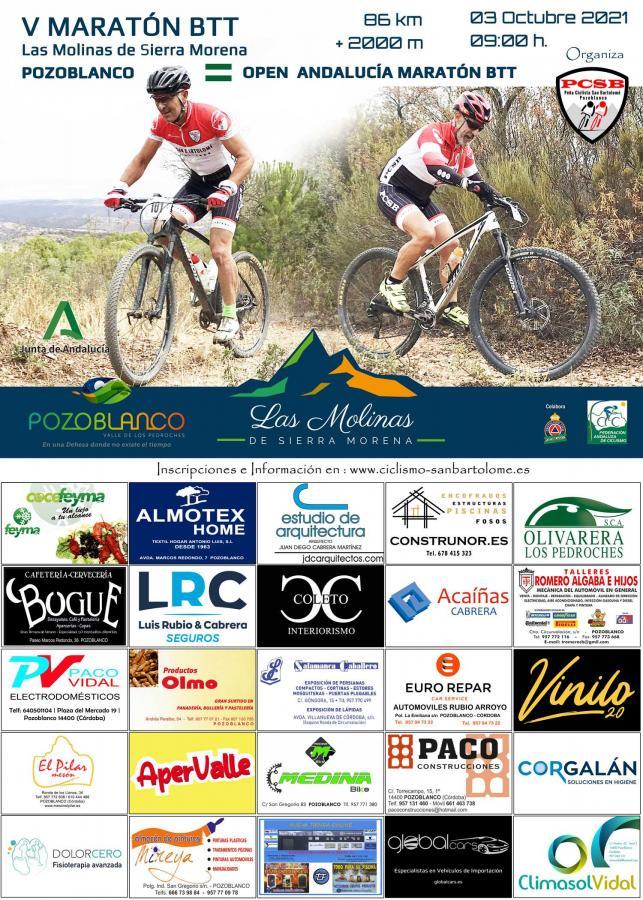 Las Molinas de Sierra Morena nueva prueba del Open de Andalucía XCM 2021