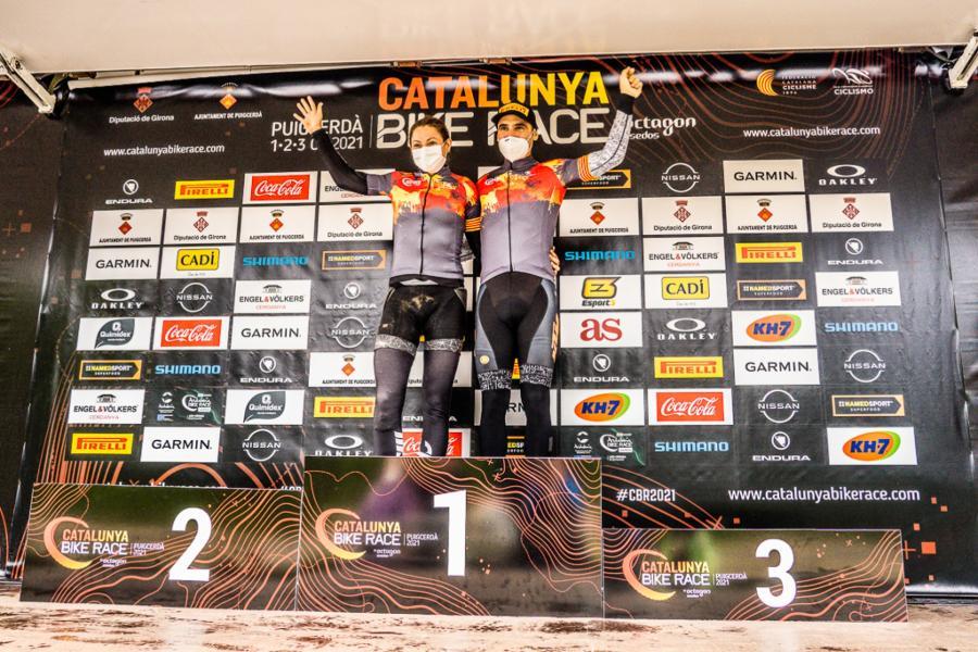 Ismael Ventura y Naima Madlen campeones de la Catalunya Bike Race 2021